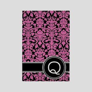 441_black_pink_Q2 Rectangle Magnet