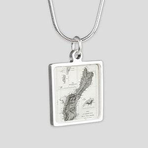De L'Ile Gwam (Guam) Freyc Silver Square Necklace
