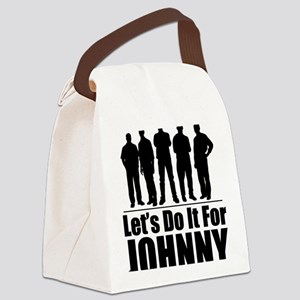 letsdoitforjohnnyblack Canvas Lunch Bag