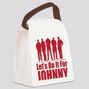 letsdoitforjohnnyred Canvas Lunch Bag