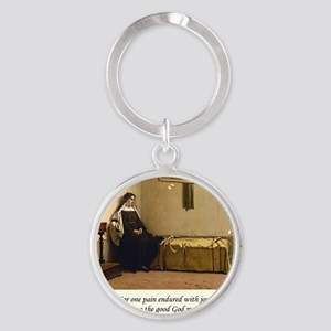 Contemplation5 Round Keychain