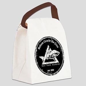 gracie est 1999 distressed black Canvas Lunch Bag