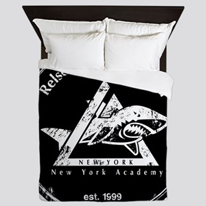gracie est 1999 distressed black Queen Duvet