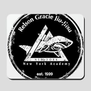 gracie est 1999 distressed black Mousepad