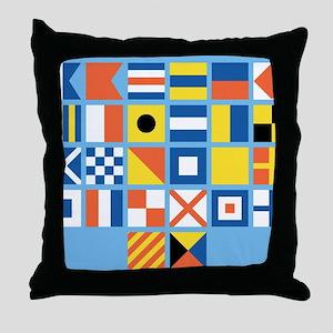 Nautical Flags Throw Pillow
