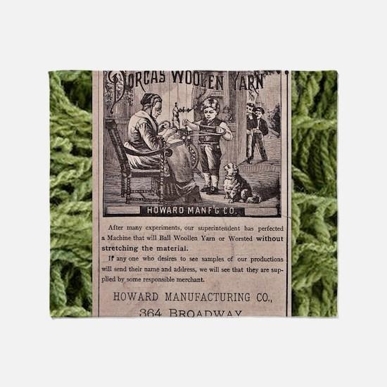 Dorcas Woolen Yarn with yarn frame Throw Blanket
