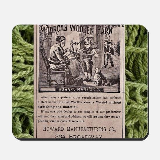 Dorcas Woolen Yarn with yarn frame Mousepad