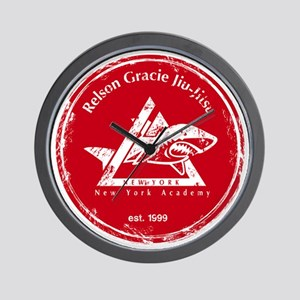 gracie logo distressed red Wall Clock