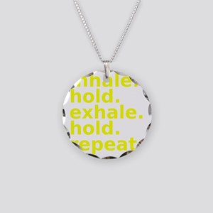 inhale Necklace Circle Charm