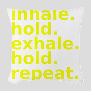 inhale Woven Throw Pillow