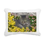 Mimosa Tabby Flowers Rectangular Canvas Pillow