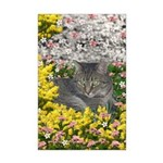 Mimosa Tiger Tabby in Flowers Mini Poster Print
