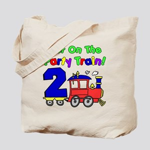 Get On The Party Train 2 Year Old Tote Bag