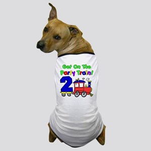 Get On The Party Train 2 Year Old Dog T-Shirt