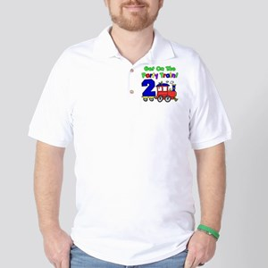 Get On The Party Train 2 Year Old Golf Shirt