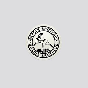 gracie bros bw Mini Button
