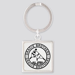 gracie bros bw Square Keychain