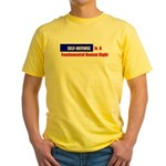 Self-Defense is Fundamental Yellow T-Shirt