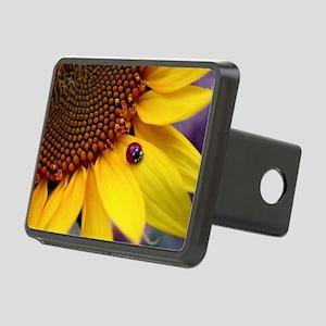 Ladybug on Sunflower1 Rectangular Hitch Cover
