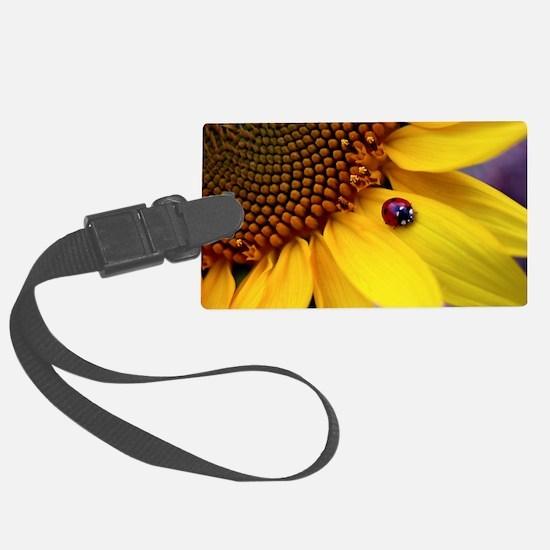 Ladybug on Sunflower1 Luggage Tag