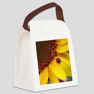 Ladybug on Sunflower1 Canvas Lunch Bag