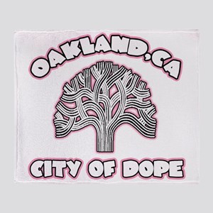 Oakland,Ca City of Dope -- T-Shirt Throw Blanket