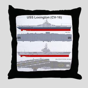 Essex-Lex-T-Shirt_Back Throw Pillow