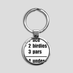 april11_4_under_black Round Keychain