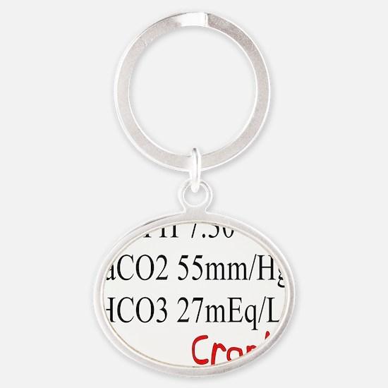 RT Bad Labs Oval Keychain