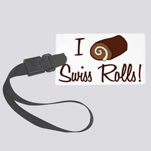 i-love-swiss-rolls_tr Large Luggage Tag