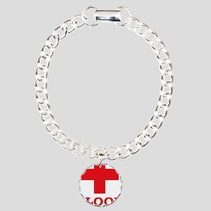 blooddonorA Charm Bracelet, One Charm