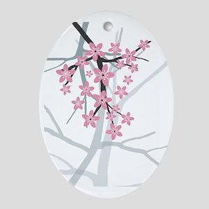 Sakura Oval Ornament