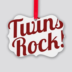 TwinsRockred Picture Ornament