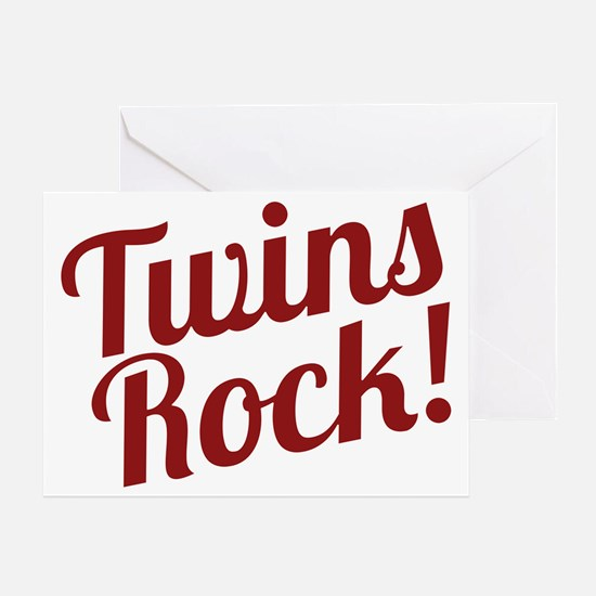 TwinsRockred Greeting Card