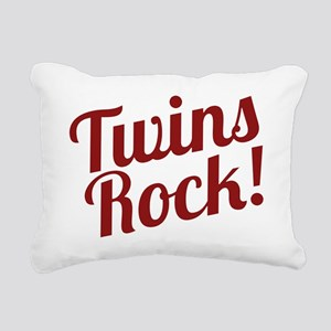 TwinsRockred Rectangular Canvas Pillow