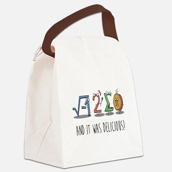 I 8 Sum Pi Math Teacher Pun Gift Canvas Lunch Bag