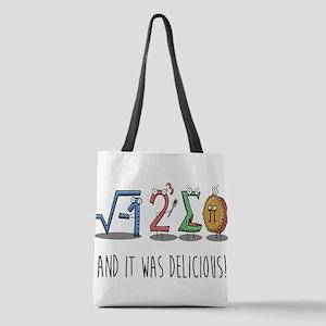 I 8 Sum Pi Math Teacher Pun Gif Polyester Tote Bag
