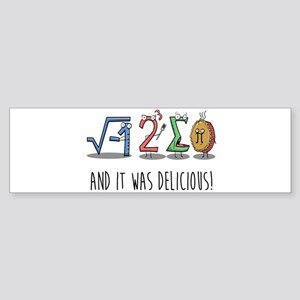 I 8 Sum Pi Math Teacher Pun Gift Bumper Sticker