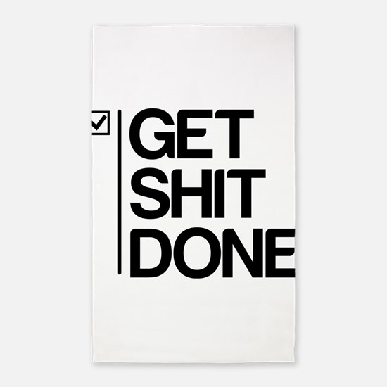 Get Shit Done 3'x5' Area Rug