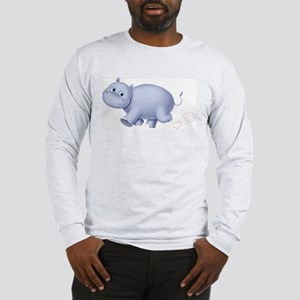Indigo Hippo Long Sleeve T-Shirt