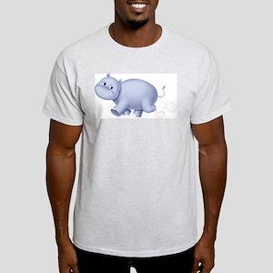 Indigo Hippo Ash Grey T-Shirt