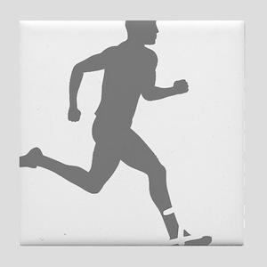 131runner10inBLK Tile Coaster
