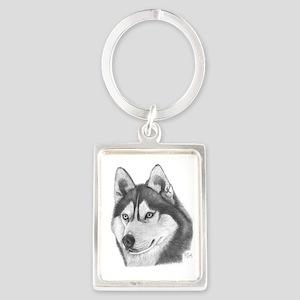 Husky Portrait Keychain