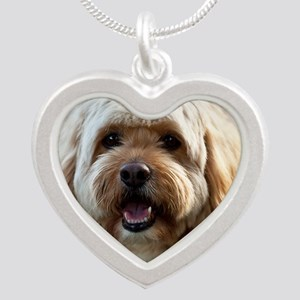 DeeJay lt Squ Silver Heart Necklace