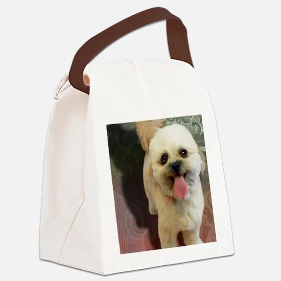 Lilly-TriPodDogDesign Canvas Lunch Bag