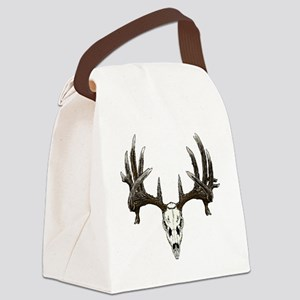 whitetail buck skull d Canvas Lunch Bag