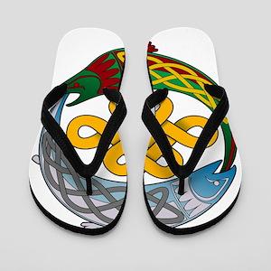 Celtic-Fish Flip Flops