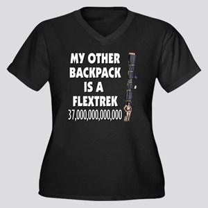 my-other_bac Women's Plus Size Dark V-Neck T-Shirt