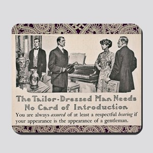 Tailor-Dressed Man Lace Background Mousepad