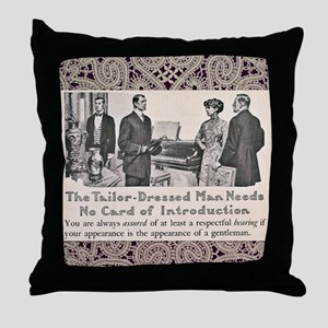 Tailor-Dressed Man Lace Background Throw Pillow